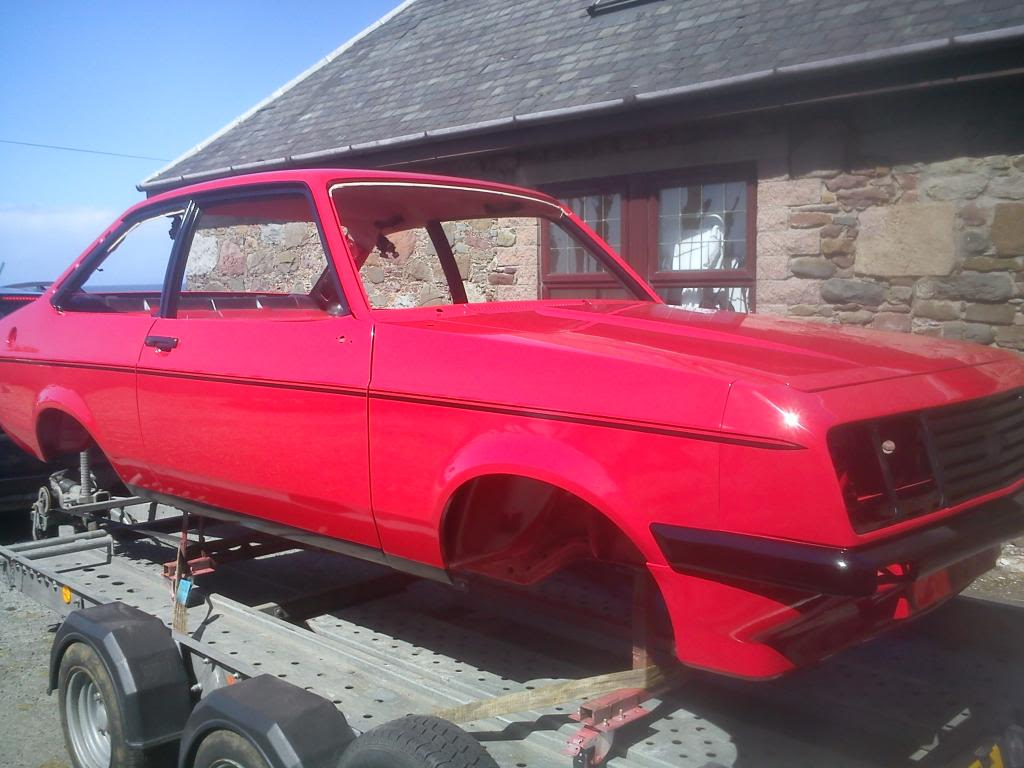 dsrestos ford escort mk2 rs2000 paint work