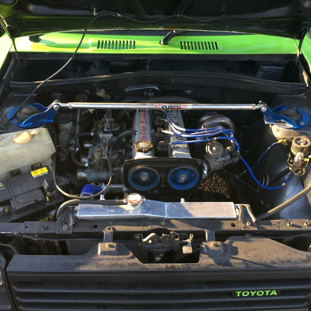 Toyota Starlet Kp61 - 4AGE Conversion - 45 webers
