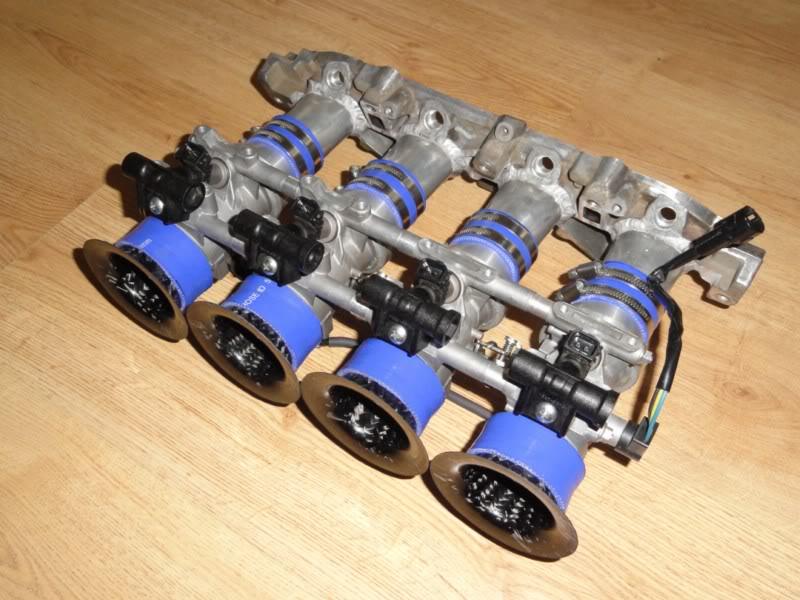 Zetec Hayabusa Throttle bodies 46mm with carbon trumpets