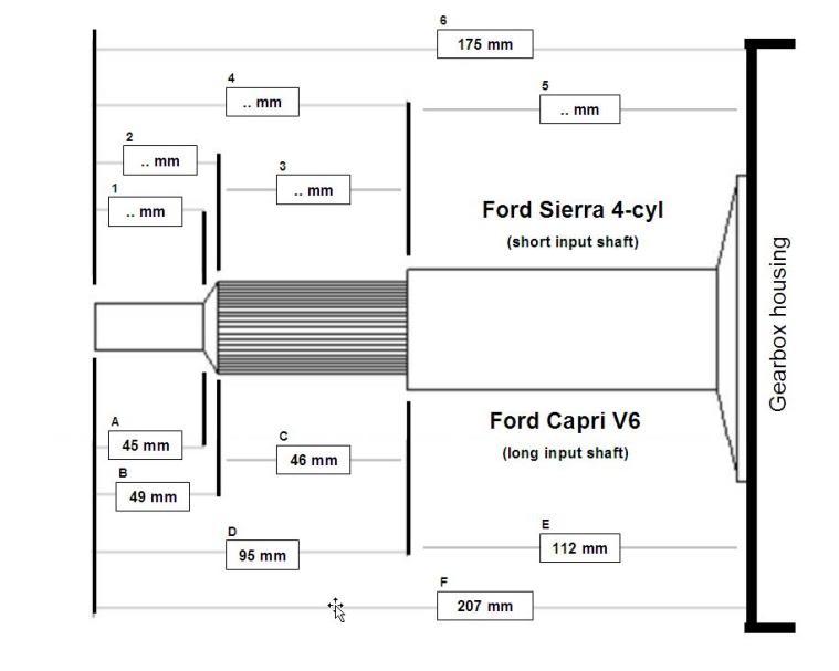 Machining input shaft type 9