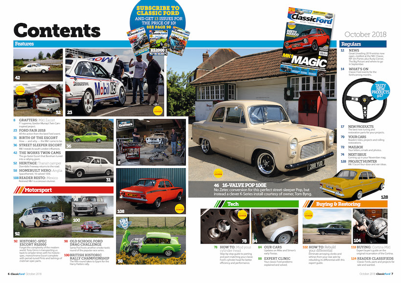 Classic Ford October 2018 Issue Out Now