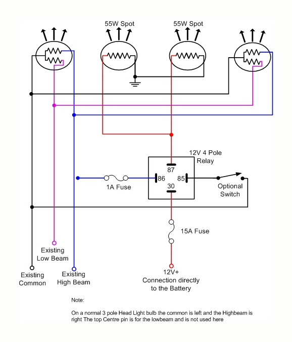 Drawing on Simple 12v Horn Wiring Diagram